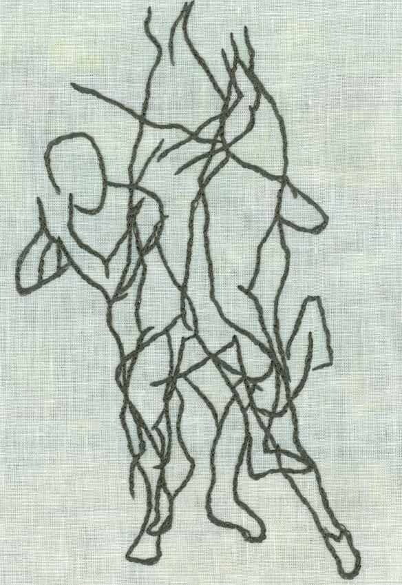 """embroidered life drawing"""