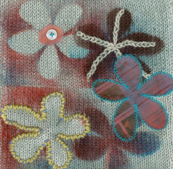"""stencilled knitting"""