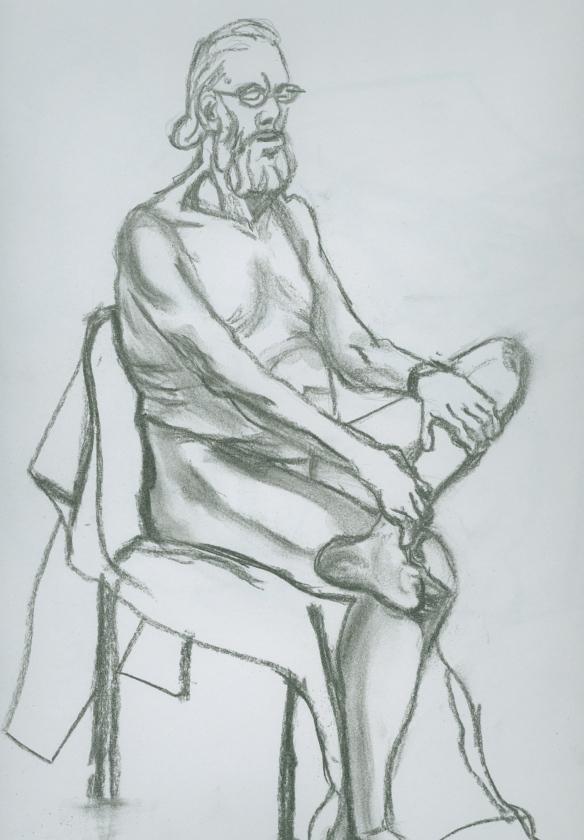 """seated man"""