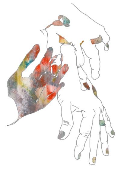 """""""doodle of hands"""""""
