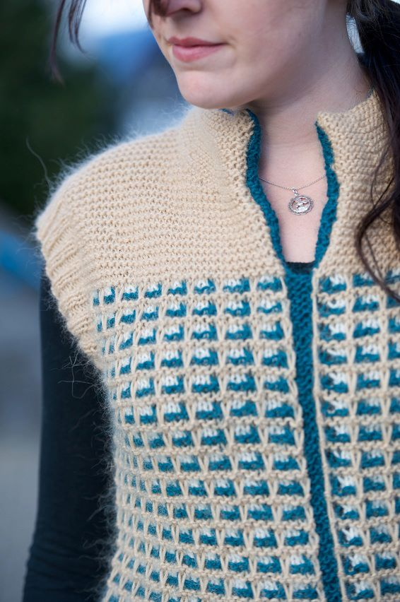 """zipless knitted gilet"""