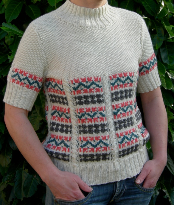 """fairisle and cable sweater"""