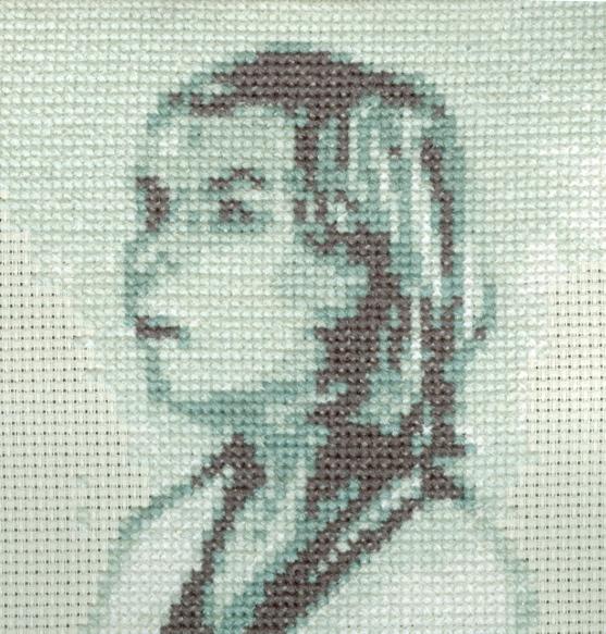 """""""cross stitch painting"""""""