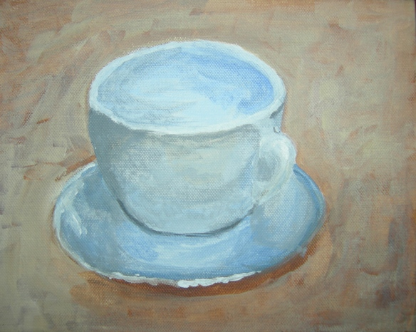 """painting of a coffee cup"""