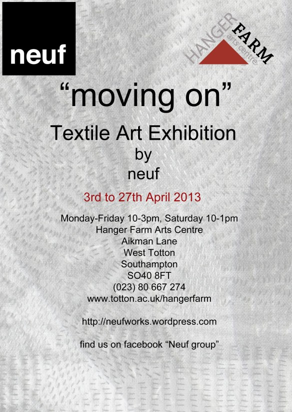 """textile art exhibition at Hanger Farm"""