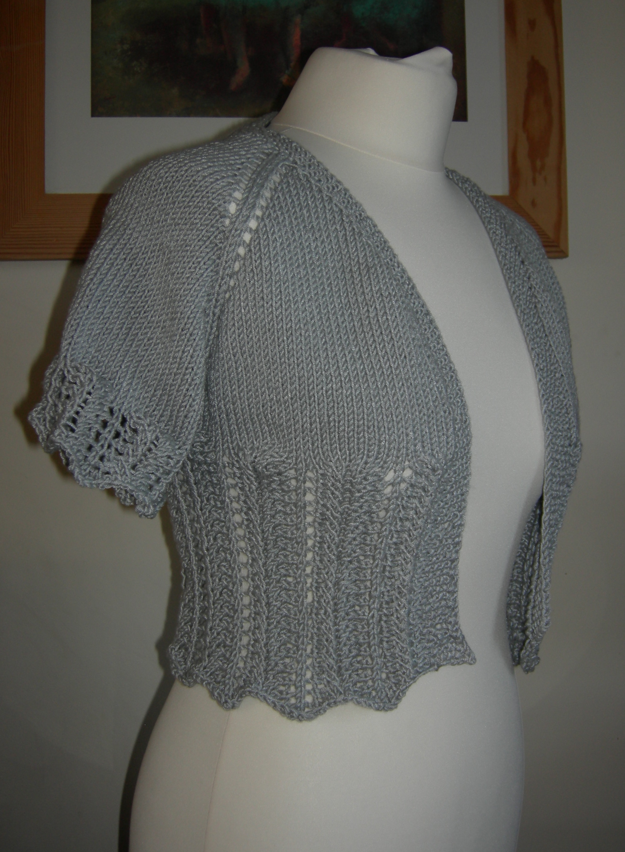 Knitting Pattern For Lace Bolero : knitting patterns