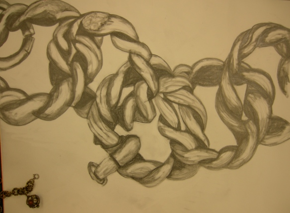 """scaled up drawing of a chain"""