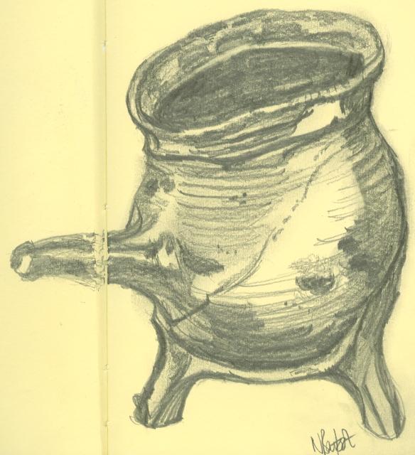 """sketch of a tripod pipkin"""