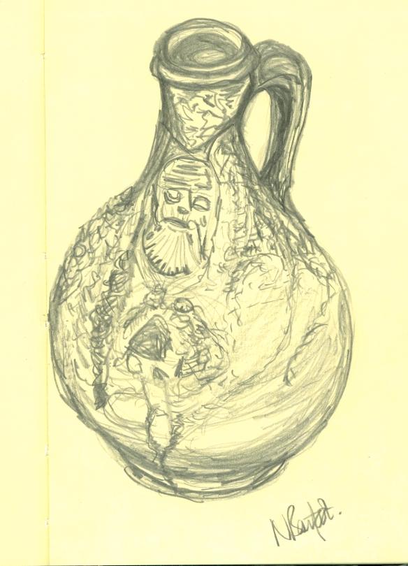 """sketch of a bellarmine flask"""