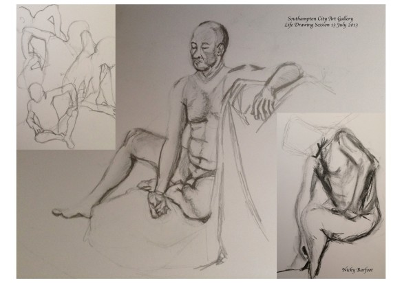 """life drawing sketches, male model"""