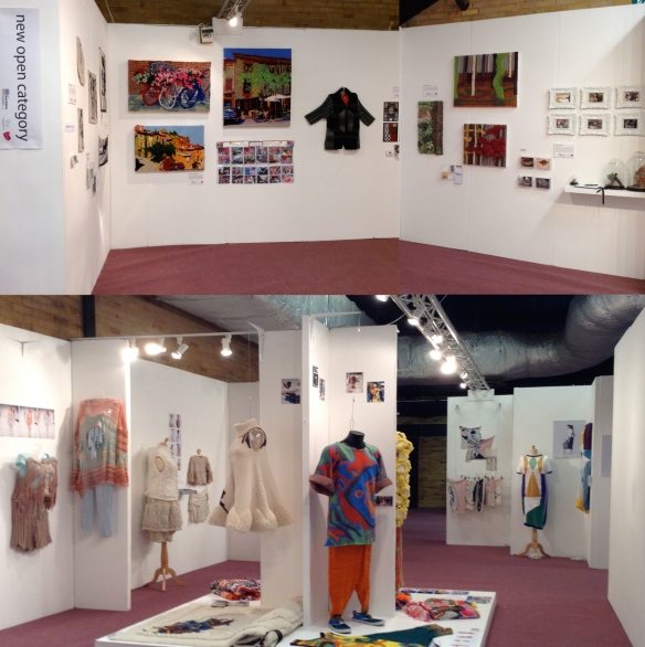 """UK Knitted Textile Awards Finalist Stand, Harrogate 2013"""