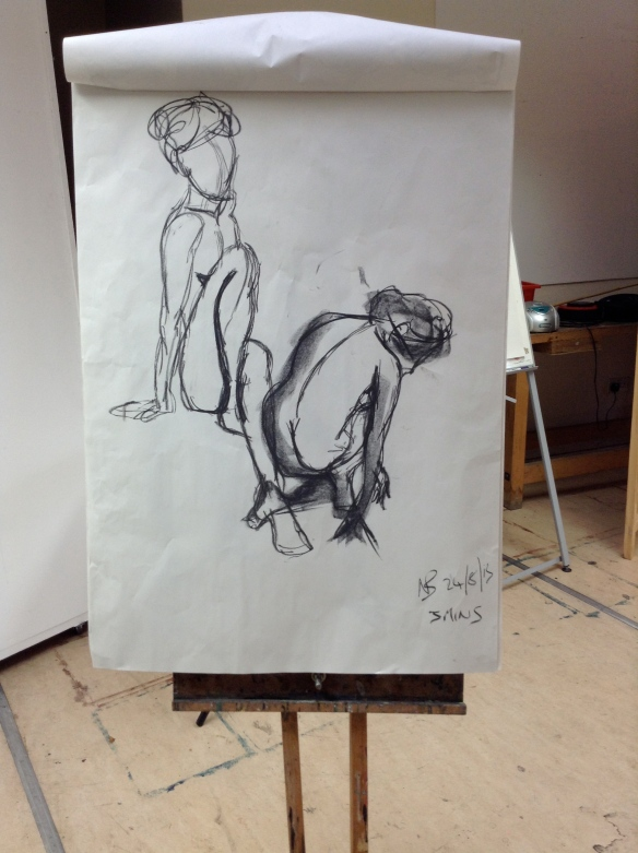 """warm up life drawing sketch by Nicky Barfoot"""