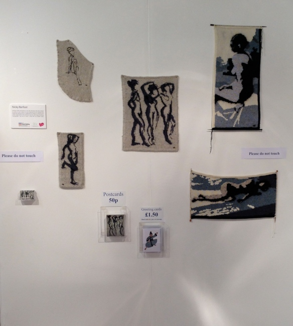 """Nicky Barfoot's Knitted Nudes at Harrogate Knit and Stitch Show 2013"""