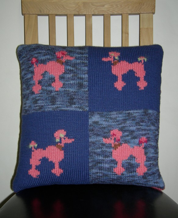 """Nicky Barfoot pink poodle cushion"""