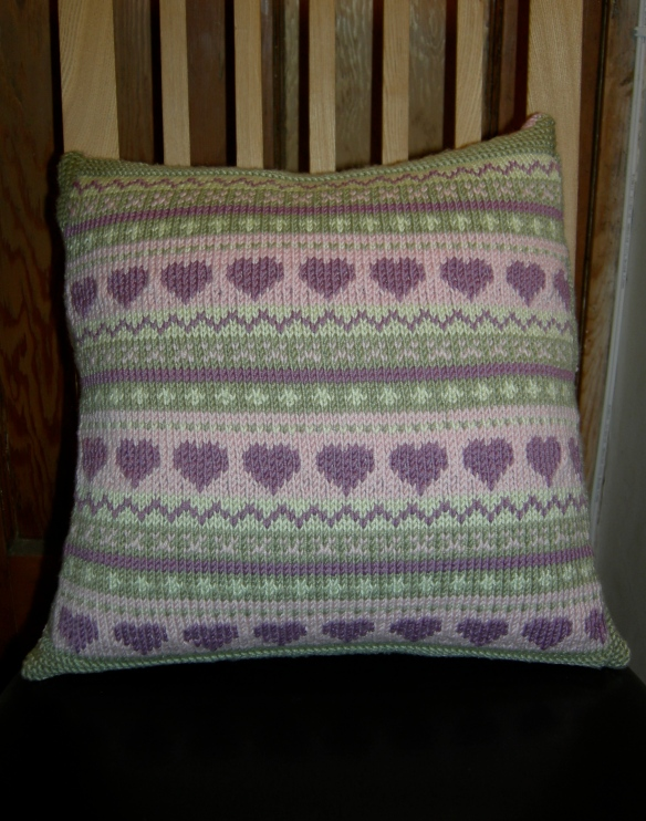 """Nicky Barfoot knitted cushion"""