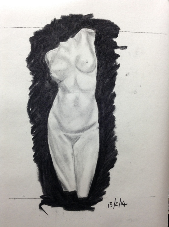 """""""charcoal drawing"""""""
