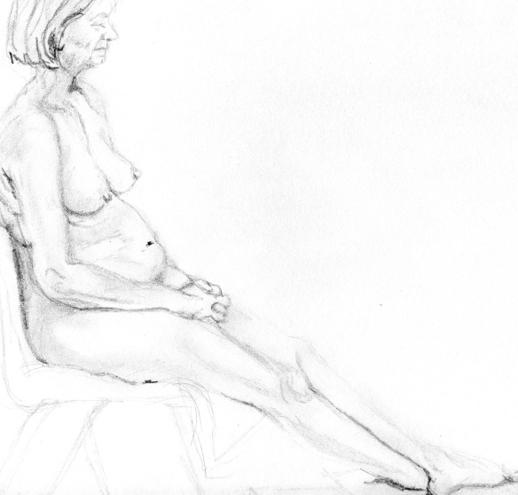 """seated life drawing pose"""