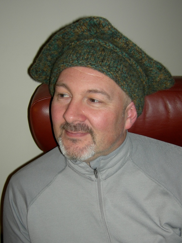 """Tudor Merchant Knitted hat: after felting"""