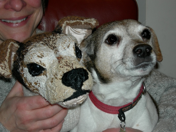 """textile taxidermy JRT and her inspiration"""