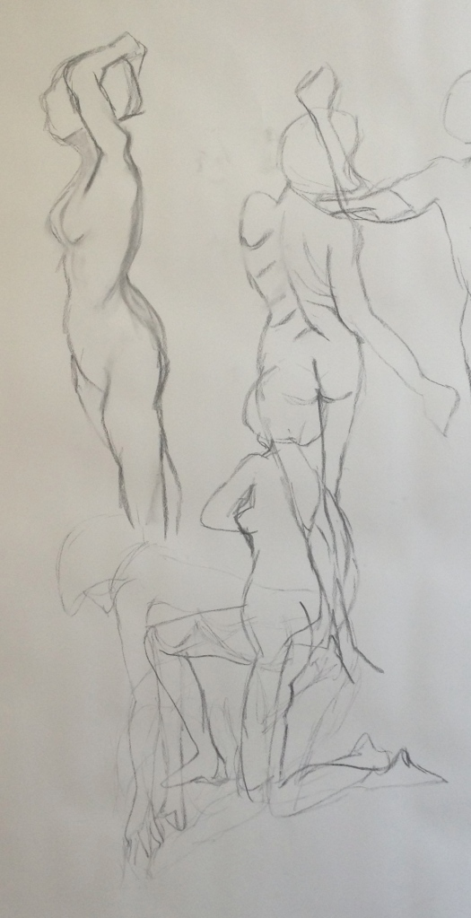 """""sequential 90sec life drawing poses"""