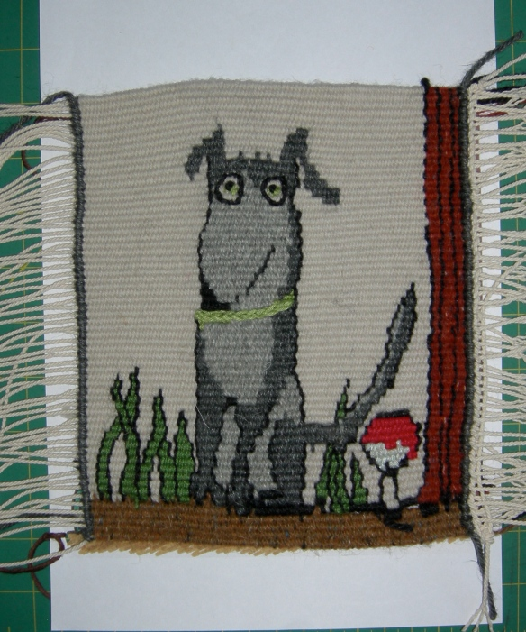 """doodle of a dog in tapestry"""