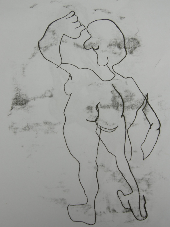 """linear life drawing"""