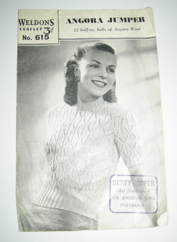 """1940s knitting pattern"""