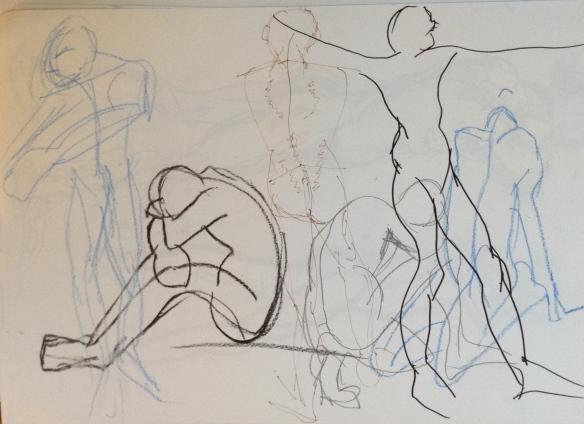 """""""10 second gesture drawings"""""""