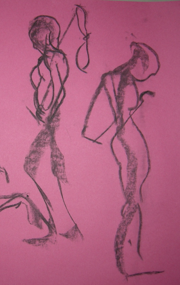 """1 minute charcoal gesture drawings"""