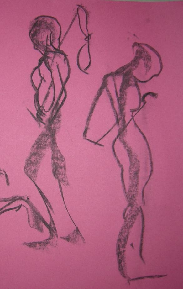 """1 minute charcoal gesture drawings"""