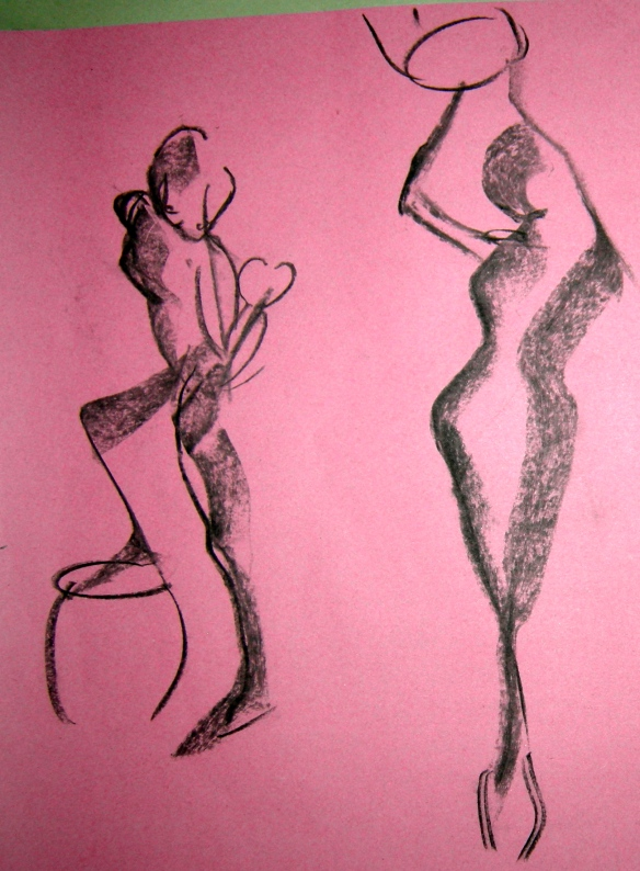 """1 min charcoal gesture drawings"""