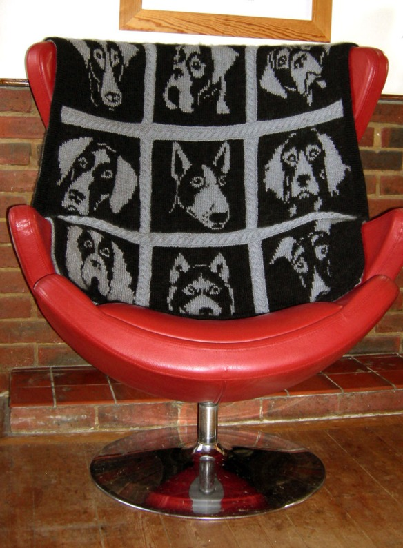 """dog portrait blanket by Nicky Barfoot"""