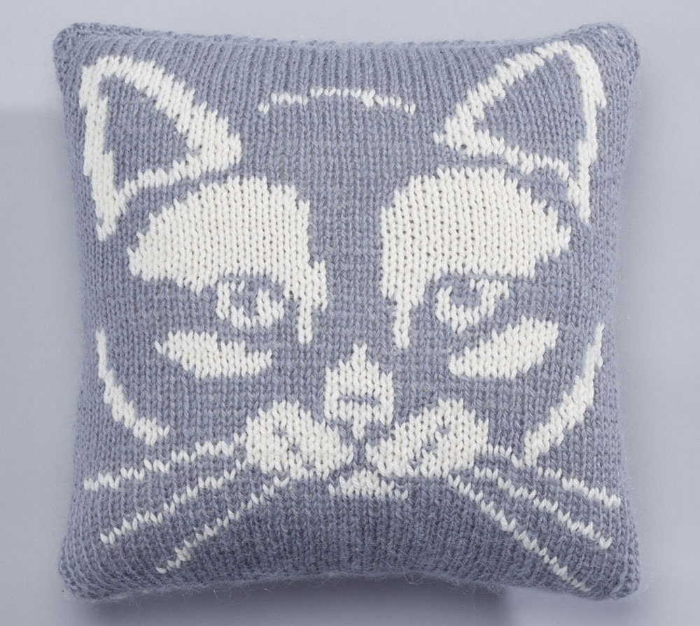 kitty cushion front etsy
