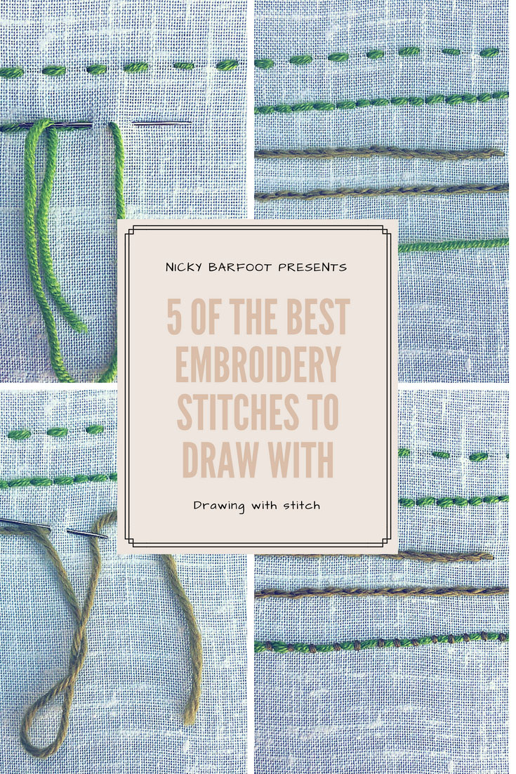 5 basic embroidery stitches for drawing