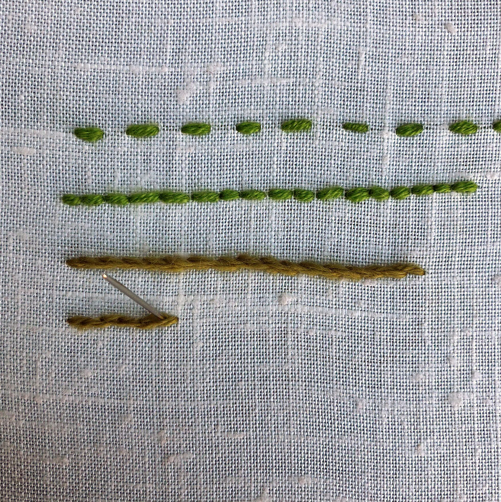 Split Stitch example