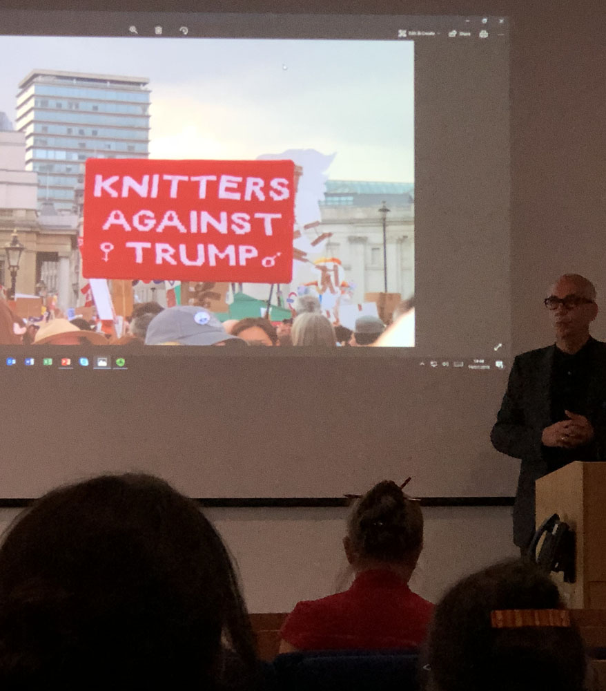 knitters against Trump placard low res