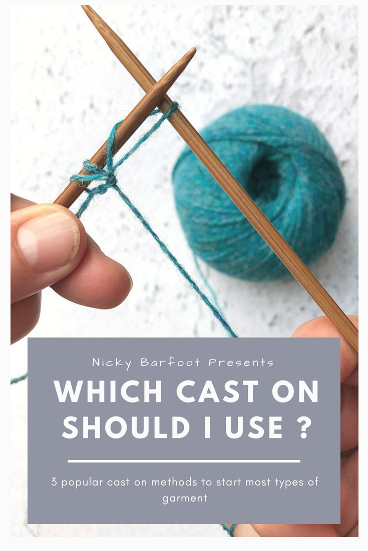 Which cast on should I use? Pinterest graphic