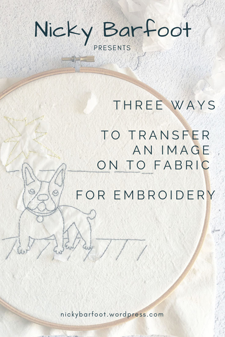 3 ways to transfer an image on to fabric