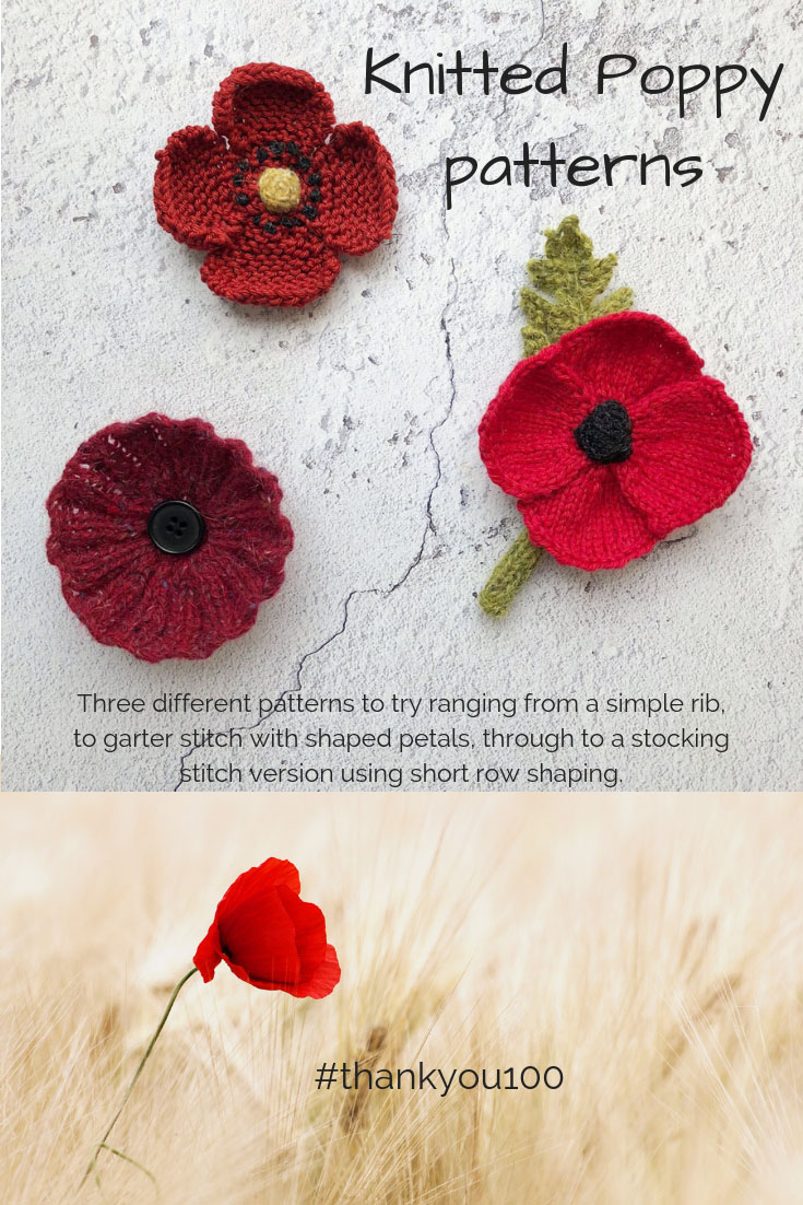 Knitted Poppies pinterest