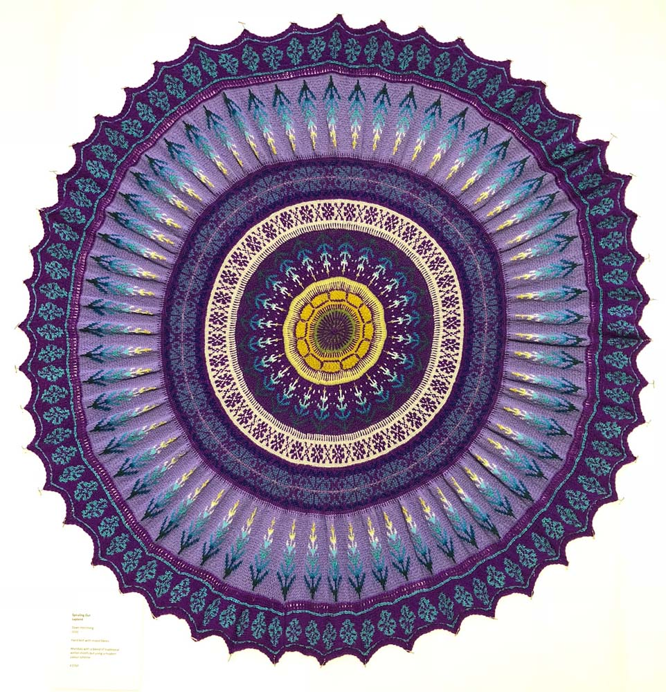 Dawn Hemming knitted mandala