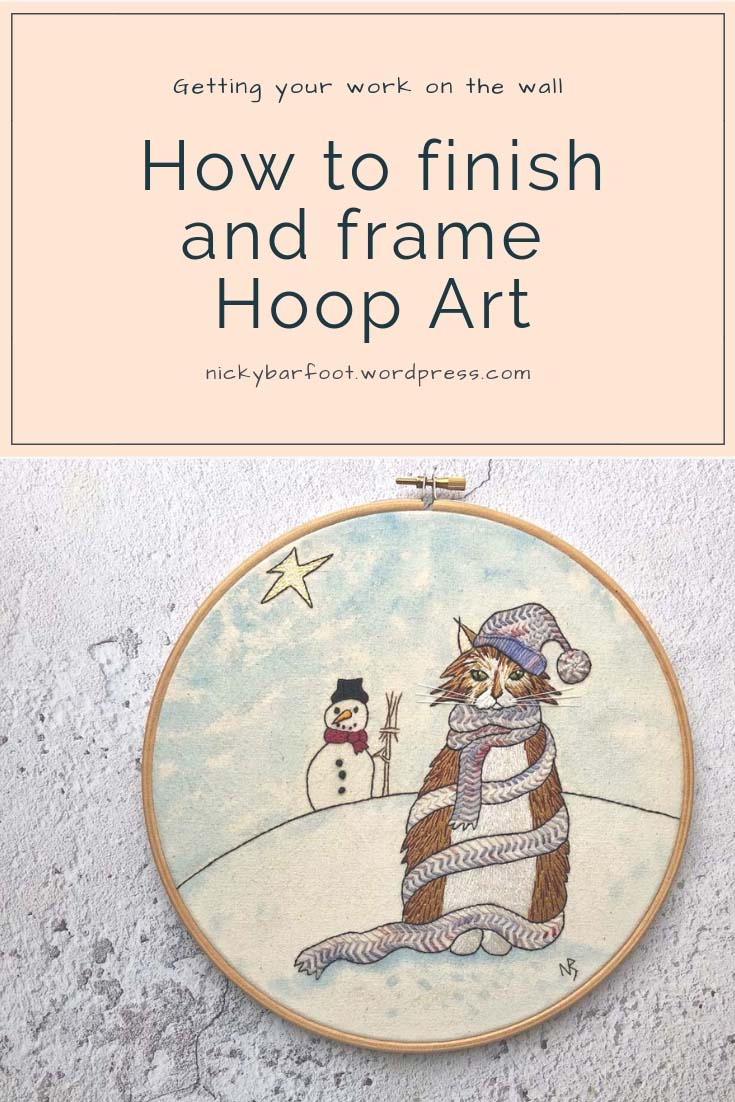 how to finish and frame hoop art