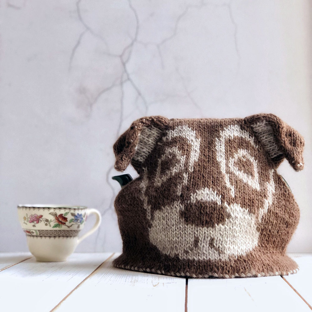 Jack Russell Tea cosy on pot low res