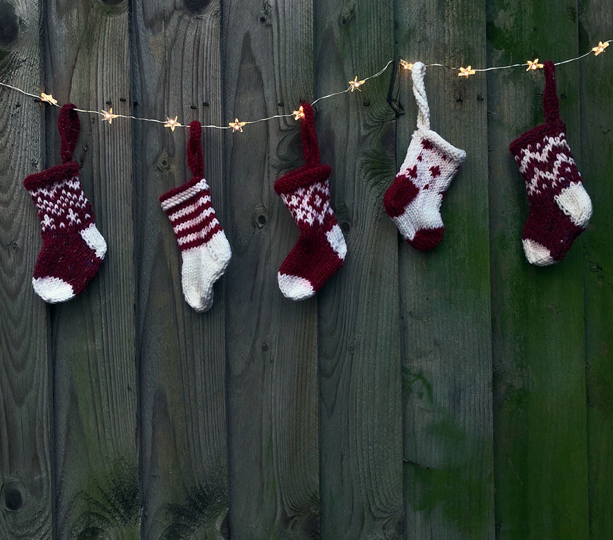mini christmas stockings