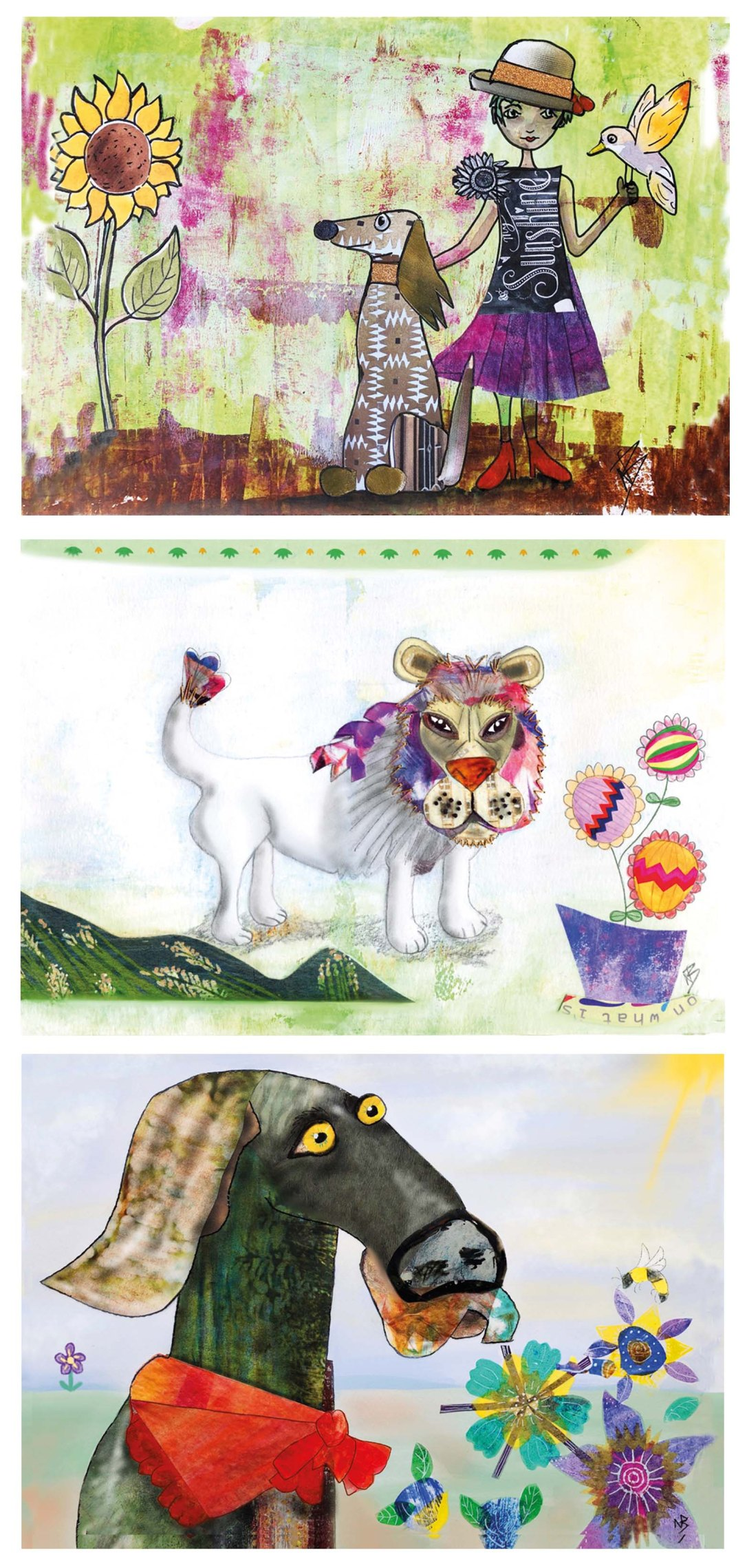 collage collection landscape